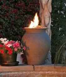 Amphora Fire Urn - American Fyre Designs - Outdoor Kitchens by Lighting Concepts Outside Fire Pits, Fire Pots, Landscaping With Rocks, Landscaping Ideas, Backyard Ideas, Backyard Pergola, Pool Ideas, Patio Ideas, Backyard Landscaping