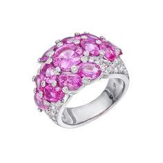 "Gumuchian Pink Sapphire ""Sky"" Ring with Diamond"