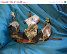 ON SALE Handmade vintage boatchristopher by VintageAnd4All on Etsy