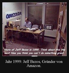 Jahr 1999: Jeff Bezos, Gründer von Amazon. | Lustige Bilder, Sprüche, Witze, echt lustig