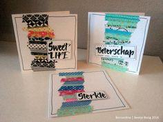Beetje Bezig Washi Tape Cards, Scrap, Card Making, Van, School, Blog, Inspiration, Ideas, Biblical Inspiration