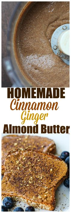 To die for Homemade Cinnamon Ginger Almond Butter. Creamier and richer than storebought!
