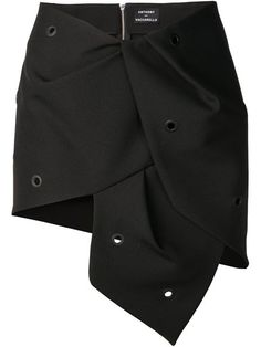 jupe asymétrique à oeillets