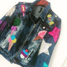 Beadwork by ebrujjka #beaded #colors #jeans
