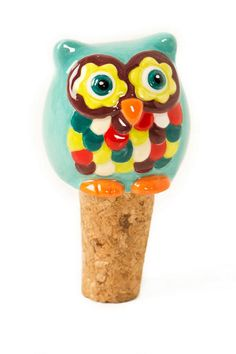 """This adorable little owlet will keep your wine cozy & fresh!  <br><br> -3"""" (length)  X 1.5 """"(diameter) <br> -Imported<br>"""