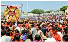 The 'Maha Chariot' procession of Lord Venkateswara was on Wednesday taken out near here, amid chanting of vedic hymns on the penultimate day of the Brahmotsavam festivities.    Temple officials said about a lakh of devotees too