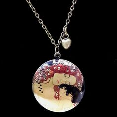 Collar locket Las tres edades de la mujer (detalle de la maternidad) de Klimt