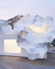 Crumpled Paper Canopies : Bloomberg Pavilion Project