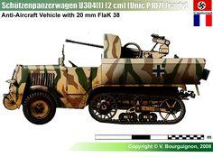 SPW U304(f) (Unic P107) mit 2 cm Flak 38 (early)