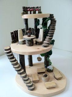 Wooden fairy tree house by LightofdayCreations on Etsy
