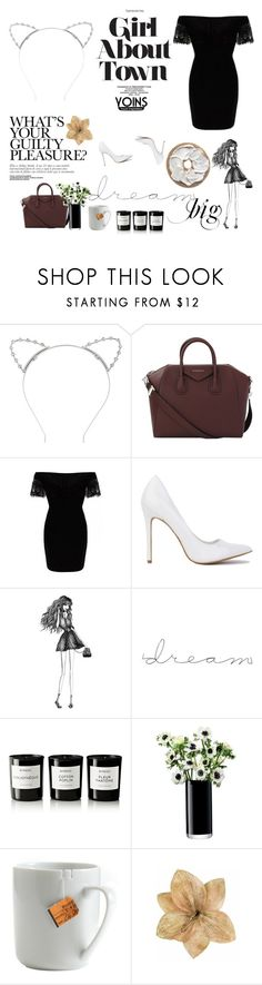 """""""Untitled #511"""" by love-torie ❤ liked on Polyvore featuring Lipsy, Givenchy, Percy & Reed, Byredo, LSA International, le mouton noir & co. and Clips"""