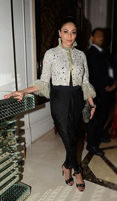 Kalyani Saha in an Anamika Khanna outfit.  The Week In Style