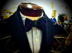 Brooks Brothers bow tie and sweater