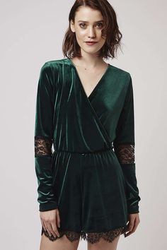 Photo 3 of Velvet Lace Playsuit, love the sleeves