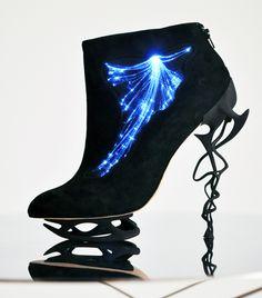 Anastasia Radevich fiber optic illuminated heels. I'm loving a lot of things here.