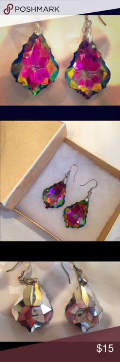 Beautiful crystal earrings! Brand new. These earrings have never been worn and are absolutely stunning. They can dress any outfit up! Jewelry Earrings