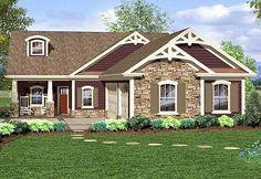 Plan 20118GA: Inviting Craftsman Ranch Home Plan