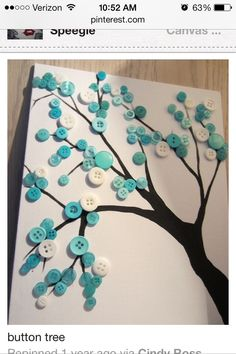 Button Crafts for Kids: How to Make 10 Craft Projects with Children Kids Crafts, Easy Crafts, Diy And Crafts, Craft Projects, Wood Crafts, Decor Crafts, Diy Wood, Craft Ideas, Button Tree