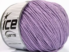 Fiber Content 60% Bamboo 40% Cotton Light Lilac Brand Ice Yarns fnt2-50555