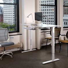adjustable height, sit/stand desk.  adjust with one hand! no motors or cords!
