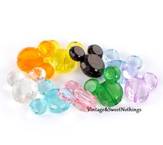 """10 Large Famous Mouse Beads 1 4/8""""x1 3/8 -SS. Starting at $5 on Tophatter.com!"""