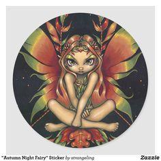 Room Of One's Own, Autumn Fairy, Autumn Painting, Beautiful Fairies, Fairy Art, Autumn Leaves, Custom Stickers, Art Pieces, Gender