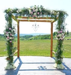 Pink and ivory arbour. This is at Cochrane Ranchehouse!