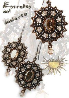 beaded pendant and earrings tutorial