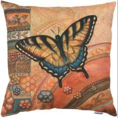"18"" Butterfly Garden Decorative Outdoor Patio Throw Pillow: Bedding : Walmart.com"