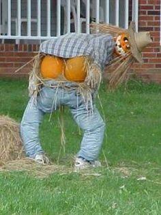Mooning #Pumpkin Scarecrow #Halloween yard decoration