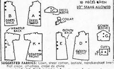 Commercial Pattern Archive - 1939 Description: INFANT'S SET Size: ONE SIZE - INFANT