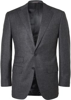 Thom Sweeney Blue Slim-Fit Puppytooth Wool and Cashmere-Blend Suit Jacket