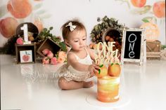 Peaches Cake Smash Peach Cake, Huntington Beach, Cake Smash, Dory, Peaches, Engagement Photography, Photoshoot, Children, Peach Cobbler Cake