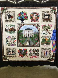 Dallas Quilt Show – Traditional Versus Artisan Quilts – Chopin – A Passionate Quilter Dallas, Texas, Sampler Quilts, Applique Quilts, Blue Ribbon, Quilting Projects, Quilt Blocks, Gallery Wall, Artisan