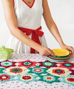 Summer project for patio!  Table runner, cute!!!