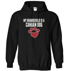 My grandchild is a CANAAN DOG love dog cute - #cool sweatshirts #customize hoodies. ORDER NOW => https://www.sunfrog.com/Pets/My-grandchild-is-a-CANAAN-DOG-love-dog-cute-1457-Black-15381939-Hoodie.html?60505