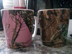 His and hers coffee mugs or hot cocoa