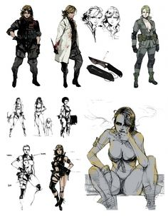 Metal Gear Solid Quiet, Metal Gear Solid Series, Game Character Design, Character Design Inspiration, Character Art, Metal Gear Rising, Dope Art, Art Sketchbook, Art Sketches