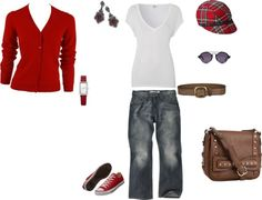 """""""Autumn Weekend in Red"""" by mandmmccoy on Polyvore"""