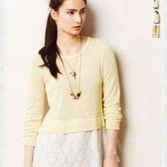 Clu + Willoughby Top Textured upper yellow top with attached white floral bottom. Super cute for spring and summer. Is very big for size x-small Clu+ Willoughby Tops Blouses