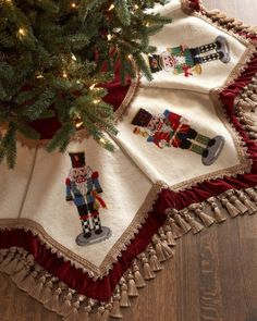 Peking Handicraft Nutcrackers Tasseled Christmas Tree Skirt - ONLYATNM Only Here. Exclusively for You. Wool needlepoint with rayon trim. Christmas Skirt, Christmas Sewing, Christmas Cross, Little Christmas, Christmas Projects, Vintage Christmas, Christmas Stockings, Christmas Holidays, Christmas Ornaments