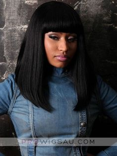 Long Capless Nicki Minaj'S Wig, Human Hair Wigs Celebrities