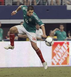 """Javier """"Chicharito"""" Hernandez aka the poster boy for El Tricolor . He's in charge of scoring goals. He needs your support. Like, for real. 