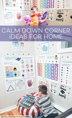 Check out how we build our calm down corner at home and get awesome ideas for your own calm down corner. Home Learning, Learning Spaces, Toddler Learning, Learning Activities, Preschool Activities, Calm Down Kit, Calm Down Corner, Calming Activities, Emotional Awareness