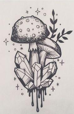 Zeichnen von Ideen Trippy Illustrations Ideas - draw smth everyday, u lazy. - Zeichnen von Ideen Trippy Illustrations Ideas – draw smth everyday, u lazy fuck – # - Trippy Drawings, Art Drawings Sketches, Cute Drawings, Tattoo Sketches, Tattoo Drawings Tumblr, Psychedelic Art, Inspiration Art, Art Inspo, Mushroom Drawing