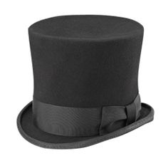 "Black Gotham Top Hat - 201303 by Medieval Collectibles: tall crown (6"") very narrow brim (1.5"")"