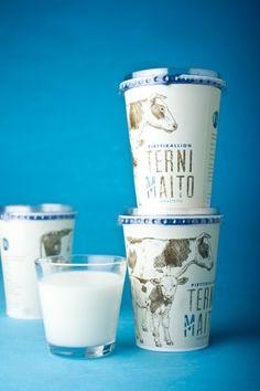 Pirttikallion MAITO - Milk packaging | Miiro Seppänen & Maria Okkonen