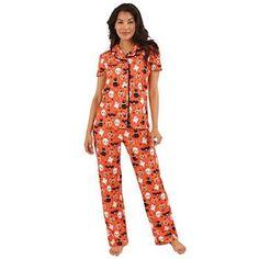 Women's Nite Nite by Munki Munki Halloween Pajama Shirt & Pajama Pants Set Halloween Fashion, Halloween Cosplay, Halloween Outfits, Fall Outfits, Halloween Pajamas, Cute Halloween, Adult Pajamas, Pajamas Women, Cute Sleepwear