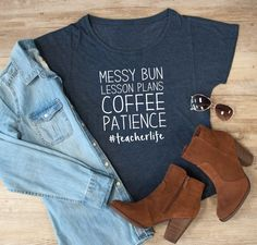 #teacherlife | Graphic Dolman Tee- OMW! These teacher tees are perfect! Love that they aren't fitted, but more slouchy! Perfect for casual Fridays or dressed up with black pants and my favorite flats. Need to order QUICK! Jane deals gooo fast!