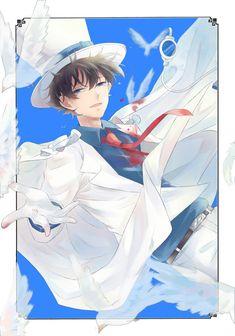 Juvia And Gray, Detective Conan Shinichi, Tsubaki Chou Lonely Planet, Kaito Kuroba, Gosho Aoyama, Kaito Kid, Detektif Conan, Kudo Shinichi, Magic Kaito